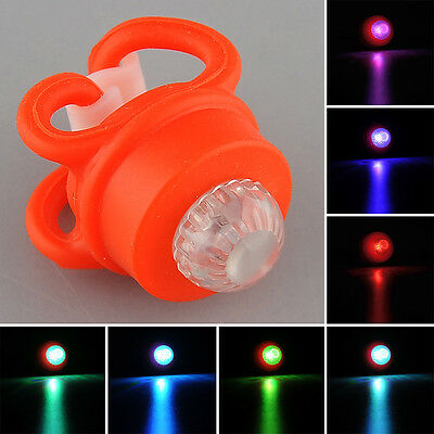 Bicycle Cycle Cycling Silicone Safety LED Warning Flashing Frog Light Red