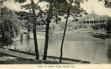 1907-1915 Postcard;Lake View in Lord's Park, Elgin IL Cook or Kane County Posted