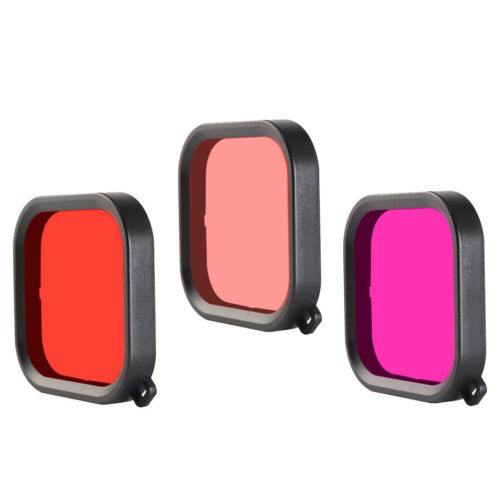 Red+Pink+Purple Diving Color Filter w// Starp For GoPro Hero 8 Housing Case
