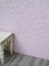 blass-rosa  Herzchen,TAPETE Puppenstube,30cmx53,Kinderzimmer,Schlafzimmer