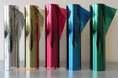 Film Miroir Sans Tain 5 couleurs largeur 51 cm