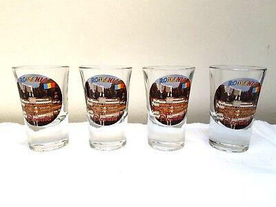 Sammeln & Seltenes Bar & Spirituosen 4 Stück Schnapsgläser Gläser Aus Rumänien Romania Sovata Up-To-Date-Styling