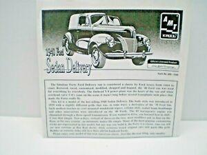 AMT ERTL  1940 Ford Sedan Delivery  JUNK YARD MODEL CAR 1/25 KIT  L@@K!
