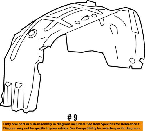 GMC GM OEM 15-16 Sierra 2500 HD-Front Fender Liner Splash Shield Right 22763674