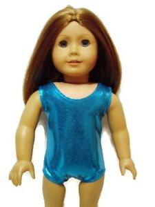 Shiny-Teal-Leotard-Fits-American-girl-dolls-18-inch-Doll-Clothes-Swimsuit