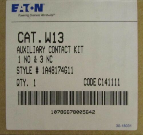 EATON CUTLER HAMMER W13 Auxiliary Contact Kit 1A48174G11 W200 Advantage Starters