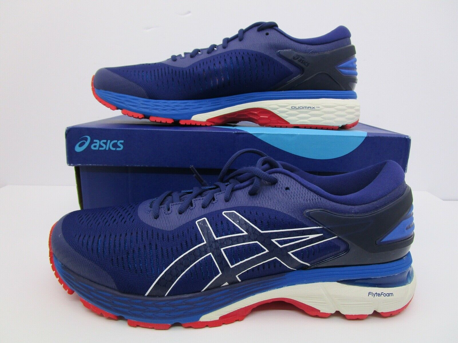 Men's Asics GEL-Kayano 25 - Indigo bluee Cream Size 12US 1011A019-400