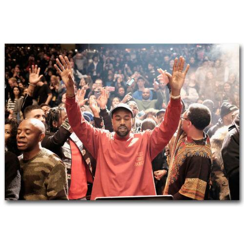 Z1084 Kanye West The Life Of Pablo Rapper HipHop Super Star Hot Silk Poster 36