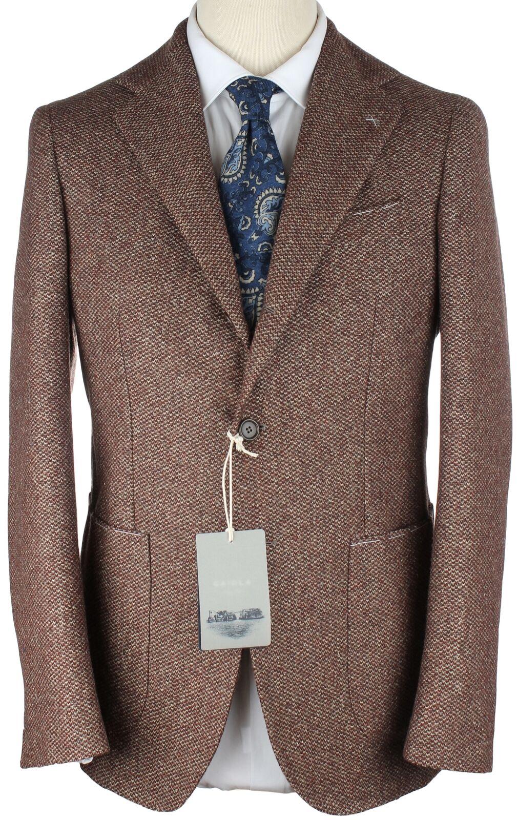 NWT GAIOLA by DE PETRILLO BLAZER ジャケット Mediterranea wool silk handmade eu 52 us