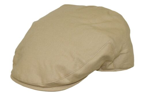 Mens Quality Cheshire Summer Beige Linen Flat Cap 100/% Linen Lined Hat S to XL