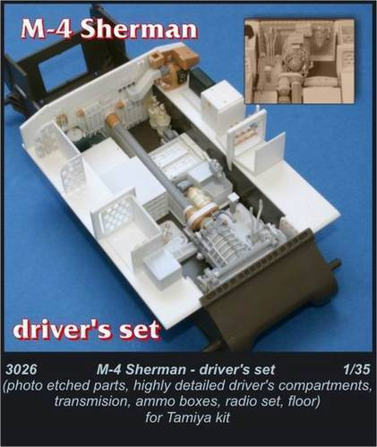 Czech Master 1 35 M4 Sherman Driver's compartment for Tamiya kit