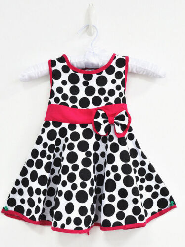 NEW Fashion Kids Baby Girls Toddler dot bowknot princess dress Summer Clothes