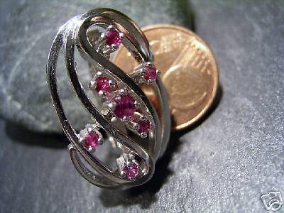 Maturo-design-elegante rubino Perle Perle Perle più breve - 585 oro BIANCO a3376f