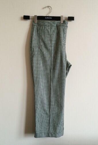 Dogstooth Pantalon Bnwt 22 haute taille droit mi taille 8qIa6