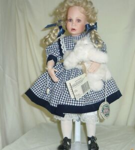 Heidi Ganz Cottage Collectibles Peggy Dey Porcelain Armature 16 Doll With Bunny Ebay