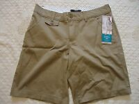 Womens 8m Short Lee Riders Tan Shorts 9 Inseam Pockets Belt Loops