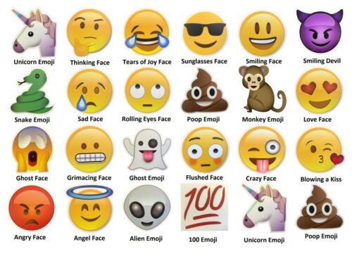 "Large Fun Emoji Stickers 4/"" Premium Thick Durable Weather Resistant Vinyl Decal"