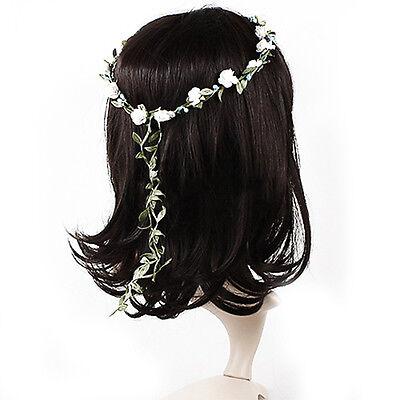 Hot Bohemian Flower Crown Wedding Garland Forehead Hair Head Band Beach Wreath