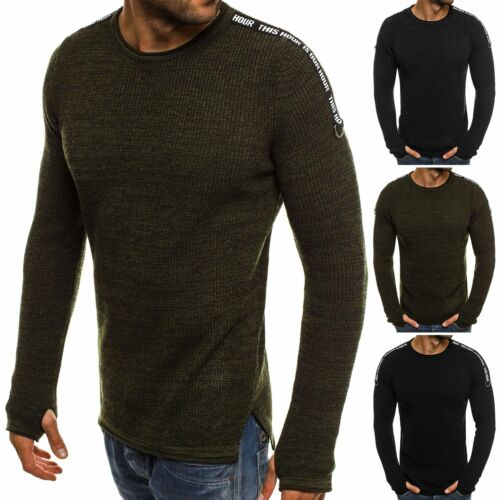 OZONEE Breezy 9040 Hommes Pull Pull Chemise Manches Longues Sweatshirt personnage souligne