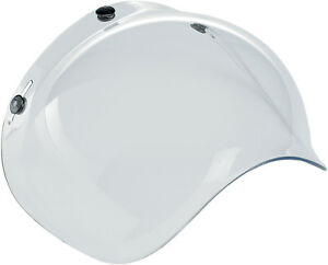 BILTWELL Bubble UV Shield/Visor for Open-Face Motorcycle Helmets (Clear)