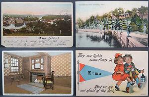 4-x-USA-Postcard-Ak-US-Postcard-Postal-Card-America-Lot-6275