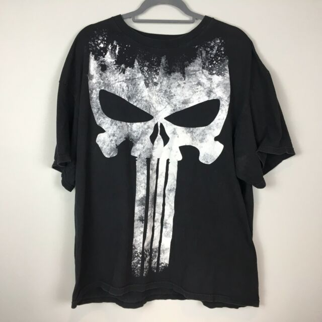 The Punisher Black White 2xl T-shirt Unisex EUC Marvel