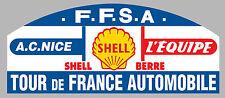 AUTOCOLLANT STICKER RALLYE TOUR DE FRANCE AUTO VINTAGE 20cmX8,5cm TA082
