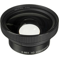 Raynox Hd-6600 Pro 52mm 0.66x Wide Angle Lens 4 Canon Hf20/hf21/hg10/hv30/hv20
