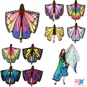 Butterfly Wings Costume Nymph Pixie Adult Poncho Shawl Accessory Handmade Color