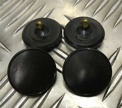 Genuine Vintage Military DMOB 4 Hole Plastic Coat Buttons Grey//Stone  X4 27mm