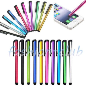 10-50x-Metal-Smartphone-Capacitive-Touch-Screen-Stylus-Pen-For-iPhone-Tablet-PC