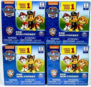Nickelodeon-PAW-PATROL-Mighty-Pups-Mini-Figures-4-Blind-Box-Packs-Series-1-NEW