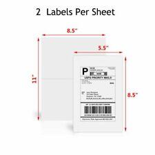 Premium 500 Half Sheet Shipping Labels Self Adhesive Blank For Usps Paypal Ebay