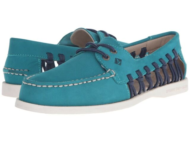 Sperry A o Haven Leder Boat Schuhes Loafers Damenschuhe Teal 8 Teal Damenschuhe Ship     50dcc4