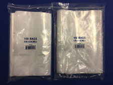 12x12 12x15 Clear Elkay Plastic Ziplock Top Reclosable Poly Jewelry Bags 2mil