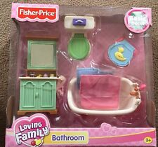 New Fisher Price Loving Family Bathroom Set Basic Decor H7217