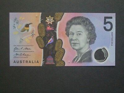 AUSTRALIA $5 2016 P62 Consecutive Prefix Identical Serial No x 2 UNC Banknotes