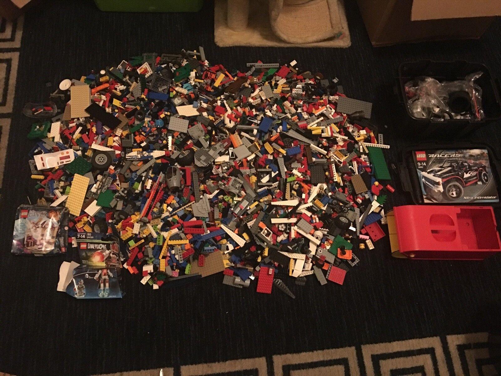Lote de 31 libras de legos, Hombrecitos, ladrillos, pequeños trozos, conjuntos