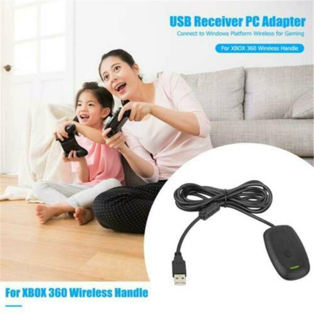 PC USB Gaming Receiver Wireless Controller Xbox 360 Console Gamepad Adapter.