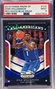 Zion-Williamson-2019-20-Panini-Prizm-Draft-Picks-Red-White-amp-Blue-All-Americans