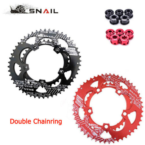 SNAIL 110bcd 50/35T Road Bike Double Speed Chainring Oval Sprocket Disc Bolts