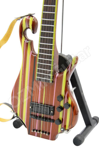 Miniature Guitar Les Claypool PRIMUS Rainbow Bass /& Strap