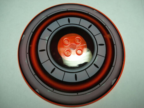 LEGO Trans-Neon Orange Inverted Dish 10X10 w// Black /& Gray Concentric Circles