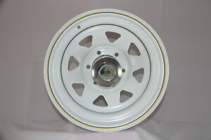 To-Suit-Mazda-BT50-Ford-Ranger-After-Market-17x8-White-Sunraysia-Style-Steel-Rim