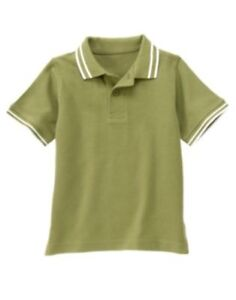 GYMBOREE GONE SURFIN' OLIVE S/S POLO TOP 3 5 6 10 12 NWT