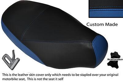 BLACK /& ROYAL BLUE CUSTOM FITS PIAGGIO SKIPPER 125 150 180 94-97 DUAL SEAT COVER