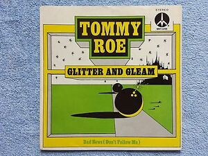 Vinyl-7-034-Cover-only-Cover-Tommy-Roe-Glitter-and-Gleam-Bad-News-m