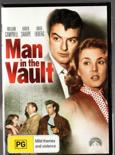 1 of 1 - MAN IN THE VAULT DVD William Campbell  Karen Sharpe LIKE NEW - FREE POST