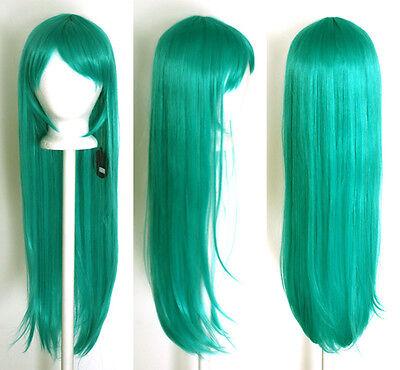32/'/' Long Straight Long Bangs Mint Green Cosplay Wig NEW