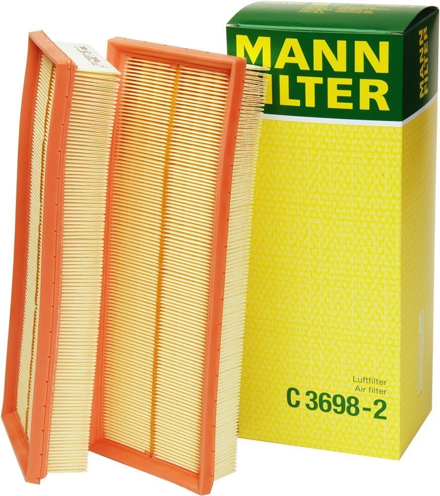 Mann Filter C 3698/3-2 Air Filter Element, Set of 2  FREE Sh